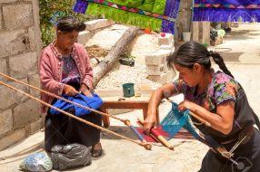 San Lorenzo Zinacantán, Mexican women weaving